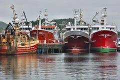 Fiska trålare i Killybegs skeppsdockor - Irland Arkivfoton