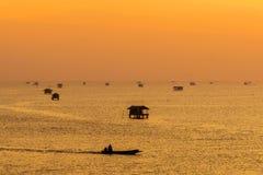 Fiska välsignelse för punktsmällTa i Thailand Arkivbilder