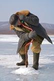 fiska vinter 51 Royaltyfri Bild