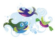 fiskar royaltyfri illustrationer