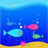 fiskar det undervattens- hav royaltyfri illustrationer