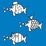 Fiskar färgläggningbok Royaltyfri Fotografi