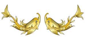 fiskar guld- Royaltyfri Foto