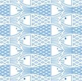 fiskar mönsan seamless stock illustrationer