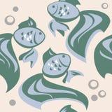 fiskar mönsan seamless Arkivbilder