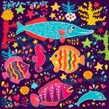 Fiskar och marin- livstid Arkivfoton