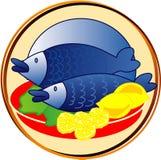 fiskar pictogramen Arkivfoton