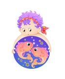 fiskar pisces tolv zodiac Arkivbilder