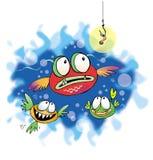 fiskar tre Arkivbilder