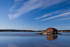 Fiskarbod. Fishermans Shed on a lonly island Stock Photography