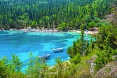 Fiskardo beach Royalty Free Stock Photo