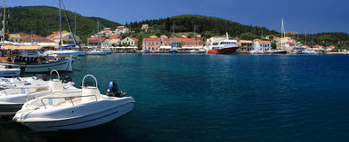 Fiskardo on the greek island of Kefalonia Royalty Free Stock Photography