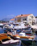 Fiskardo Harbour. The harbour at Fiskardo on the greek island of Kefalonia royalty free stock photos