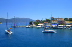 Fiskardo harbour,Kefalonia island Greece Stock Photo