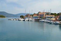 Fiskardo, ilha de Kefalonia, Grécia Fotos de Stock