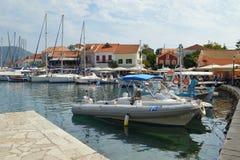 Fiskardo, ilha de Kefalonia, Grécia Fotografia de Stock Royalty Free