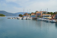 Fiskardo, isla de Kefalonia, Grecia Fotos de archivo