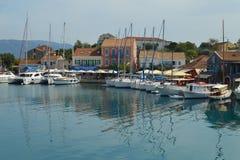 Fiskardo, isla de Kefalonia, Grecia Foto de archivo
