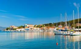 Fiskardo on the island of Kefalonia Stock Images
