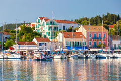 Fiskardo on the island of Kefalonia Royalty Free Stock Image