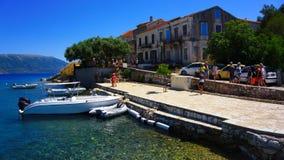 Fiskardo on the Island of Kefalonia in Greece stock image