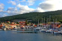 Fiskardo at kefalonia island in greece Stock Images