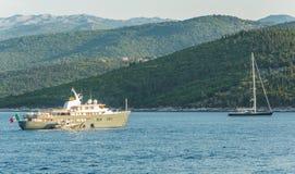 Fiskardo zatoka Kefalonia Obrazy Royalty Free