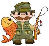 fiskare stock illustrationer