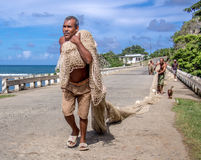 Fiskare i den Baracoa Kuban Royaltyfri Fotografi