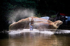 Fiskare i en arbetsdag Royaltyfri Fotografi