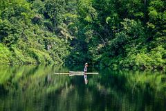 Fiskare i Green River Fotografering för Bildbyråer