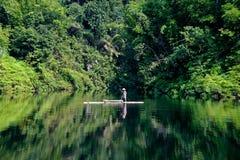 Fiskare i Green River Royaltyfria Foton