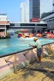 Fiskare i Hong Kong Arkivfoton