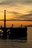 Fiskare i Lisbon Arkivbild