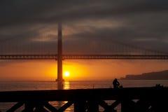 Fiskare i Lisbon Fotografering för Bildbyråer