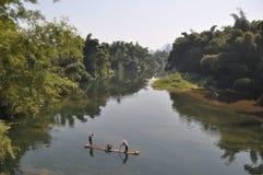 Fiskare i porslin Arkivbild