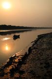 Fiskare i Sundarbansen, Indien Fotografering för Bildbyråer