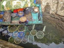 Fiskare kvinna i Vietnam Royaltyfria Bilder