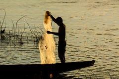 Fiskare och fiskemetoder Arkivbild