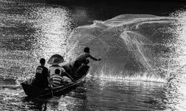 Fiskare och fiskemetoder Fotografering för Bildbyråer
