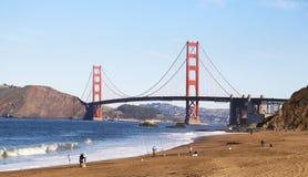 Fiskare och Golden Gate Arkivbild