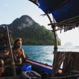 Fiskare Thailand royaltyfria bilder