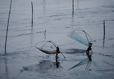 fiskare två Arkivfoton