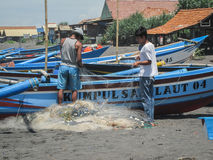 Fiskare In Yogyakarta, Indonesien Arkivfoto