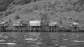 Fiskareby i Gam Islands, Raja Ampat, västra Papua, Indonesien Arkivbild