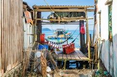 Fiskareby på den Phu Quoc ön Arkivbilder