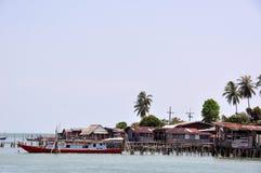 Fiskareby, Thailand Royaltyfri Bild