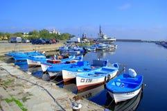 Fiskarefartyg, Sozopol port fotografering för bildbyråer