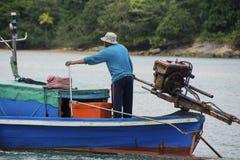 Fiskarefartygflöten, Thailand Arkivbilder