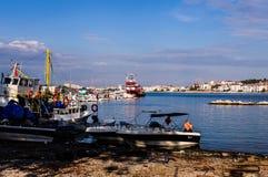 Fiskarefjärd av Yalova Turkiet Arkivbilder